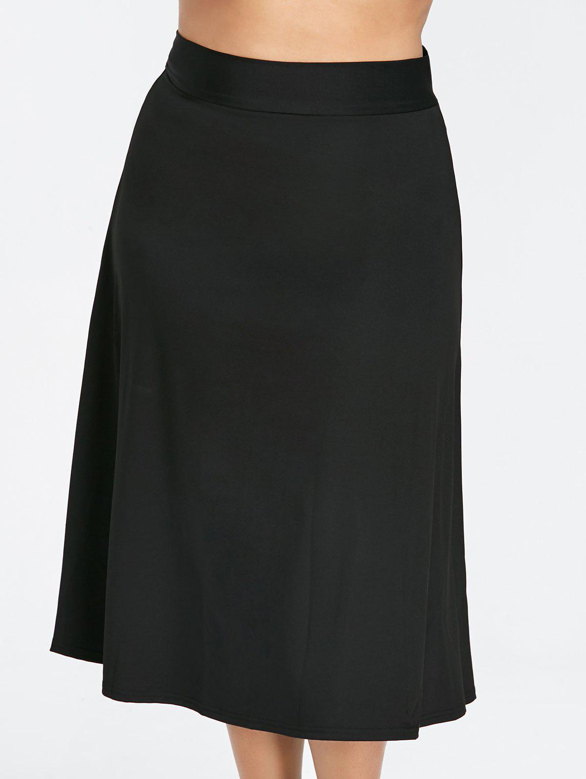 Store Back Zipper Plus Size Midi skirt