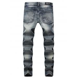 Casual Slim Fit Straight Leg Jeans with Zippers -