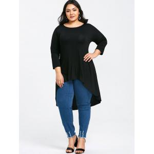 Longline Plus Size High Low T-shirt -
