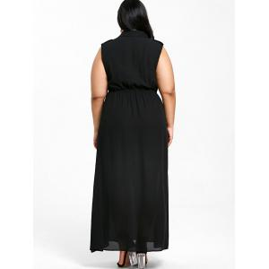 Robe-Chemisier Fluide Sans Manches Grande-Taille -