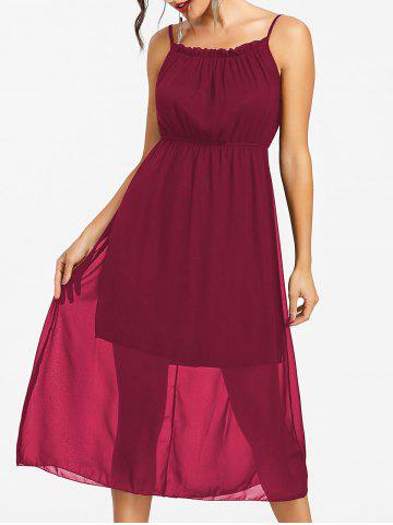 Hot High Waisted Chiffon Slip Dress