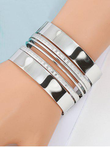 Chic Cool Alloy Cuff Bracelet