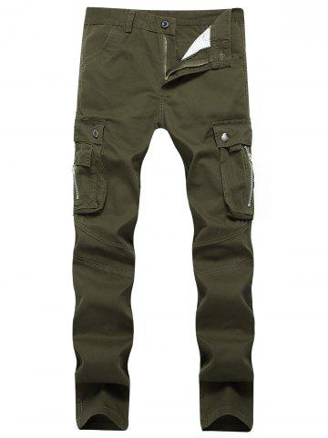 Chic Straight Leg Cargo Pants with Pockets