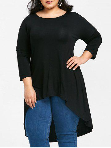 Fancy Longline Plus Size High Low T-shirt