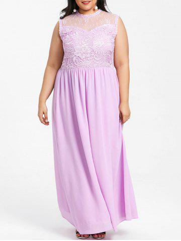 Hot Plus Size Wedding Chiffon Maxi Dress