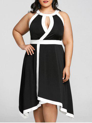 Fancy Plus Size Sleeveless Keyhole Neck Dress