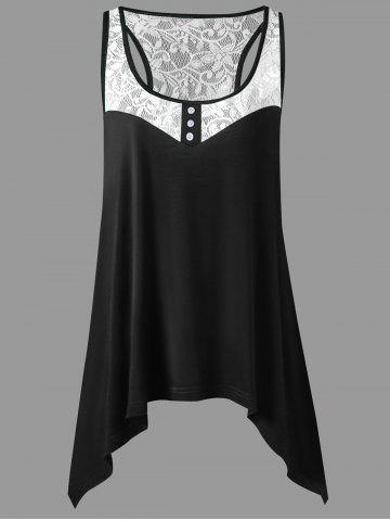 67835169ba5c2 Black Lace Racerback Tank Top - Free Shipping