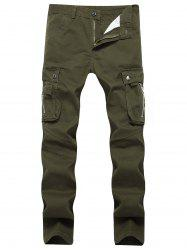 Straight Leg Cargo Pants with Pockets -