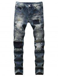 Casual Jeans with Zipper Decoration -