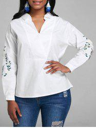 V Neck Embroidered Top -