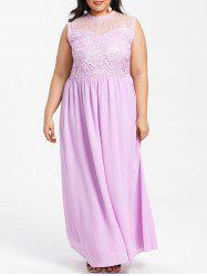 Plus Size Wedding Chiffon Maxi Dress -
