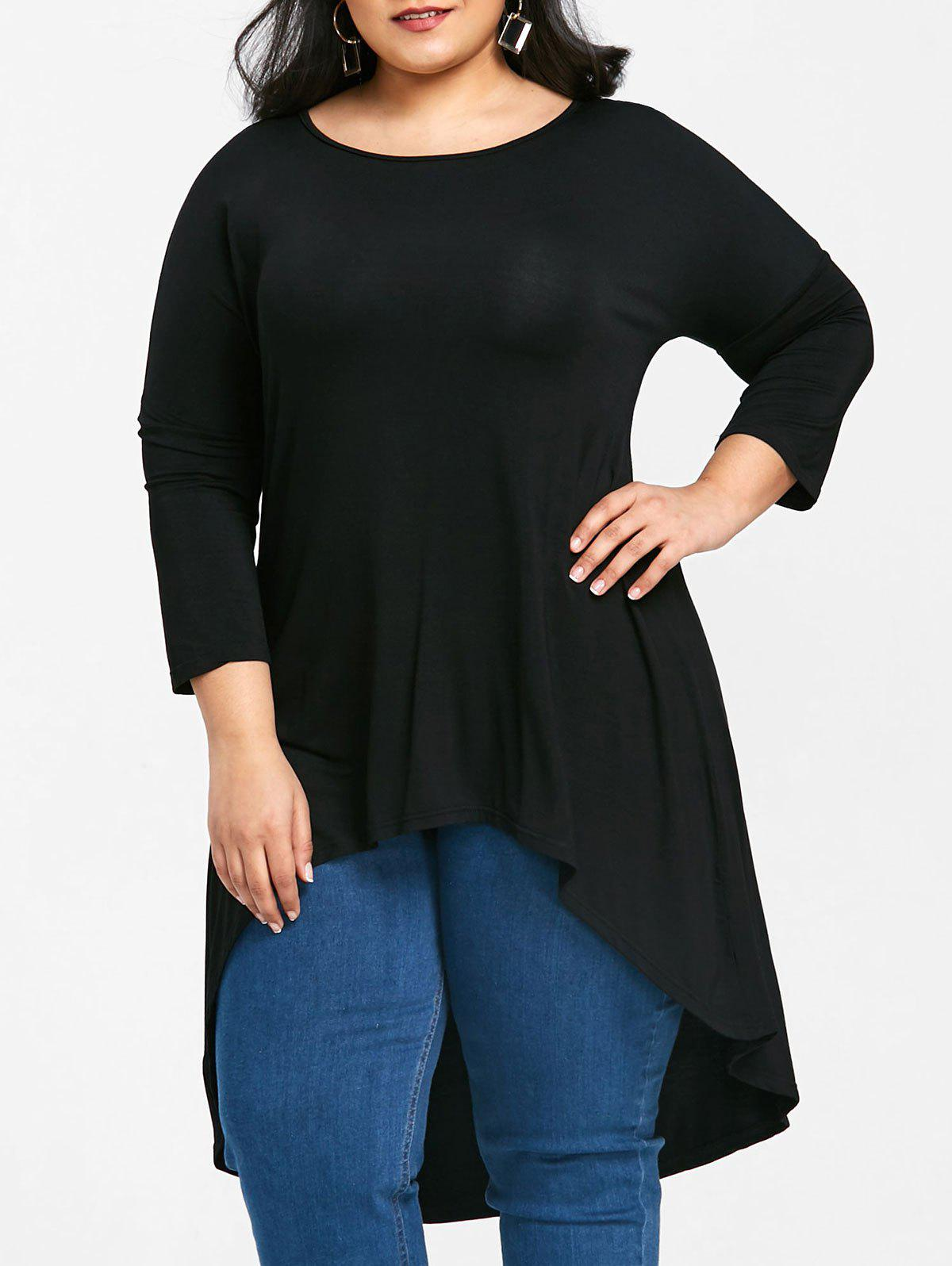 Buy Longline Plus Size High Low T-shirt
