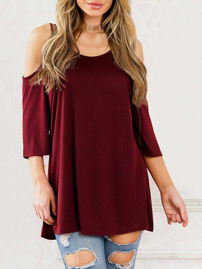 Outfit Cold Shoulder Scoop Neck Tunic T-shirt