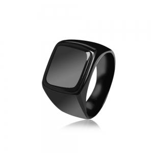 Geometric Round Finger Ring Jewelry for Man -