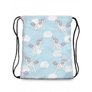 Patchwork Unicorn String Backpack -