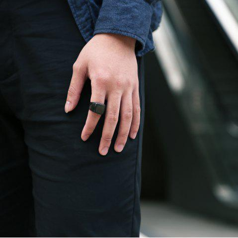 New Geometric Round Finger Ring Jewelry for Man
