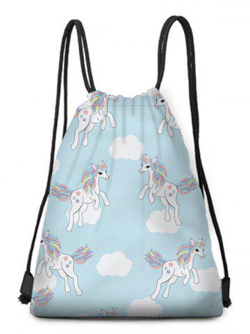 Fancy Patchwork Unicorn String Backpack