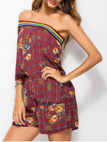 Cheap High Waisted One Shoulder Romper