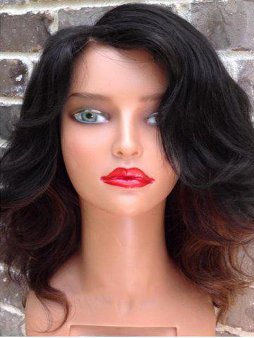 Online Medium Side Parting Colormix Wavy Synthetic Wig