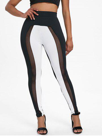 New High Waisted Two Tone Skinny Pants