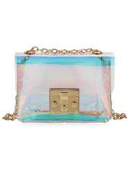 Shining Transparent Laser Chain Crossbody Bag -