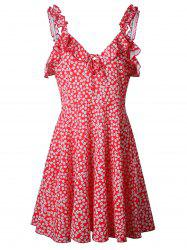 Floral Sleeveless Swing Dress -