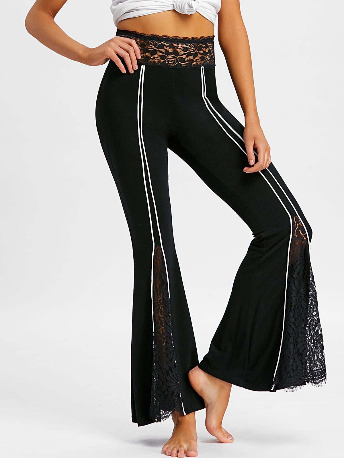 Latest Lace Panel Flare Pants