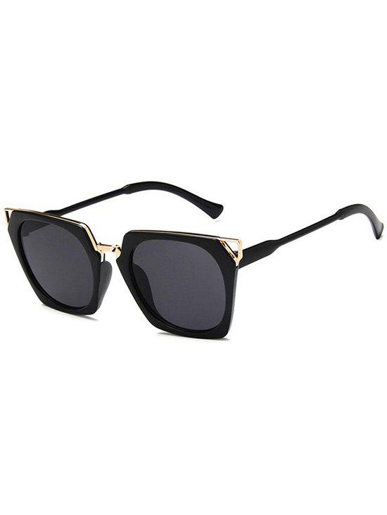 Shop Hollow Out Metal Frame Sunglasses