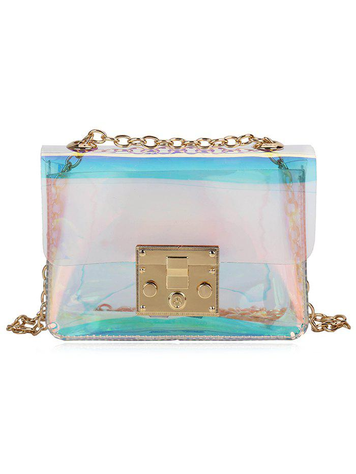 Chic Shining Transparent Laser Chain Crossbody Bag