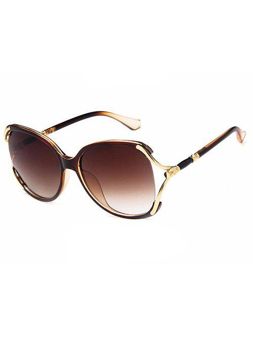 Unique Anti Fatigue Hollow Out Oversized Polarized Sunglasses