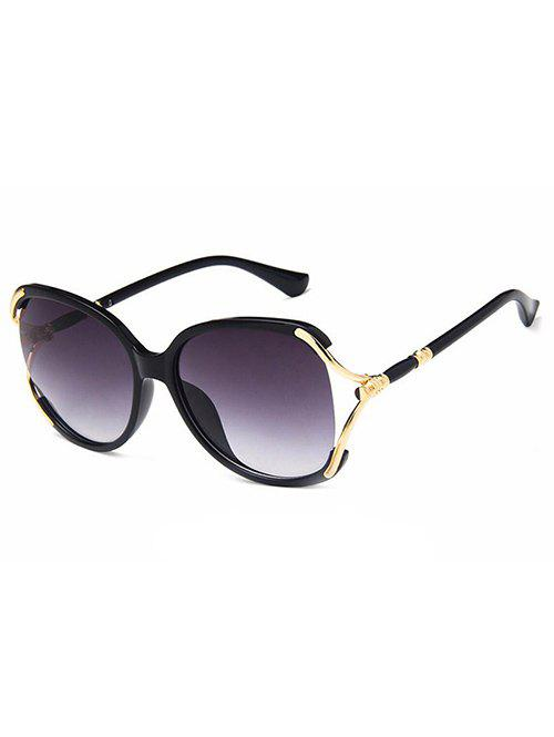 Discount Anti Fatigue Hollow Out Oversized Polarized Sunglasses