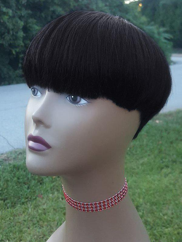 Affordable Short Full Bang Straight Synthetic Wig