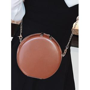 Hard Case Round Shape Crossbody Chain Bag -