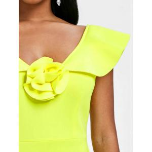 Flounce Sleeveless Bodycon Party Dress -