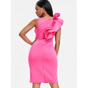 Ruffle Side Slit Bodycon Party Dress -
