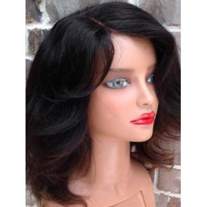 Medium Side Parting Colormix Wavy Synthetic Wig -