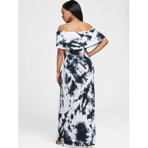 Off The Shoulder Tie Dye Maxi Dress -