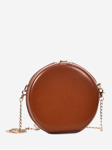 Chic Hard Case Round Shape Crossbody Chain Bag