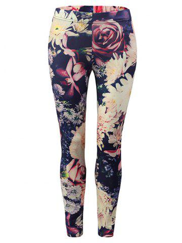 Chic Floral Print Leggings