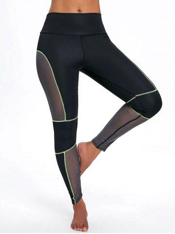 Buy See Through Mesh Panel Workout Leggings
