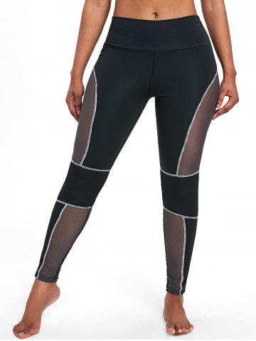 Outfit See Through Mesh Panel Workout Leggings
