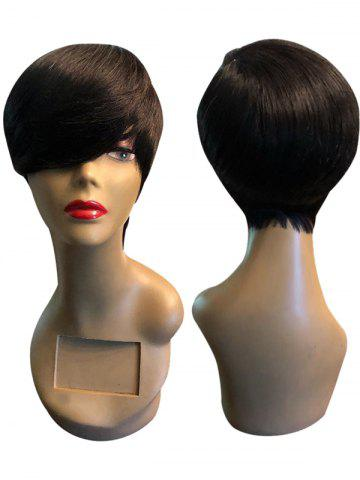 Sale Short Side Bang Straight Heat Resistant Synthetic Wig