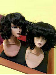 Medium Side Bang Shaggy Curly Synthetic Wig -