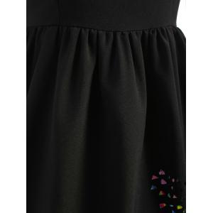 Butterfly Cut Out Sleeveless Flare Dress -