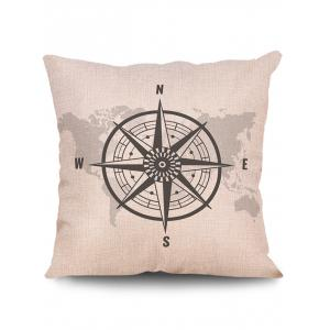 World Map Print Decorative Linen Sofa Pillowcase -