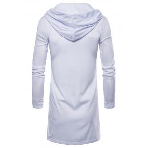 Long Sleeve Open Front Hooded T-shirt -