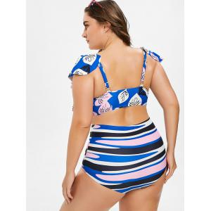 U Neck Plus Size High Waisted Bikini -