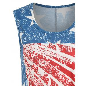 Asymmetrical Patriotic Tank Top -