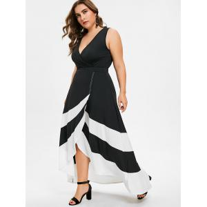 Plus Size Maxi Surplice Dress -