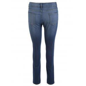 High Waisted Hole Destroyed Ripped Jeans -